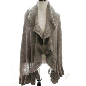 Anthropologie Ruffle Blanket Scarf Wrap Shawl